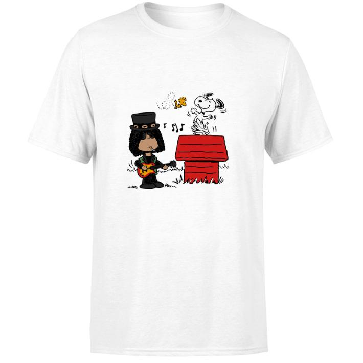 Awesome Slash and Snoopy Woodstock shirt