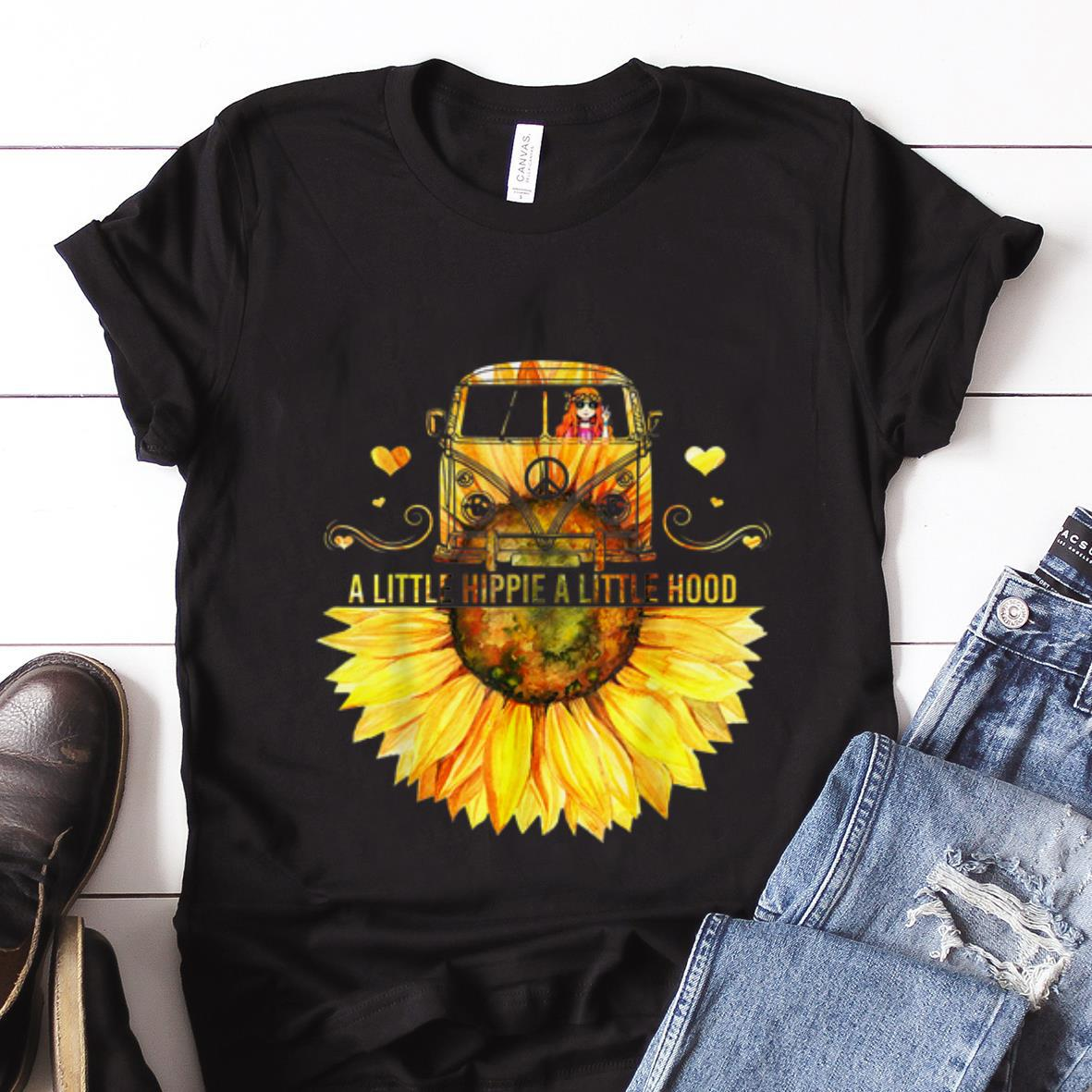 Best price Sunflower Peace Bus A Little Hippie A Little Hood shirt 1 - Best price Sunflower Peace Bus A Little Hippie A Little Hood shirt