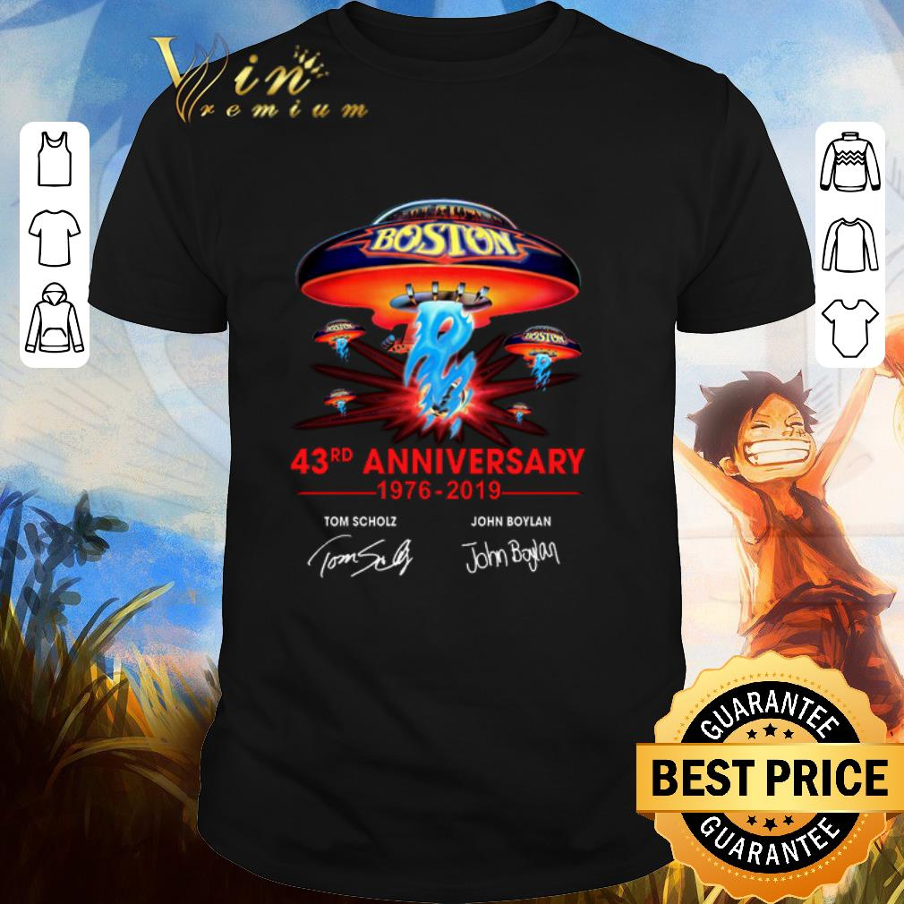 Hot Boston 43rd anniversary 1976-2019 Tom Scholz John Boylan shirt