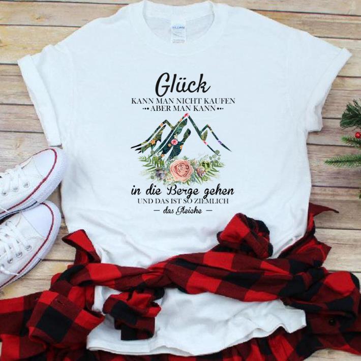 Hot Damen Gluck Kann Man Nicht Kaufen Aber man Kann Floral Das Gleiche shirt