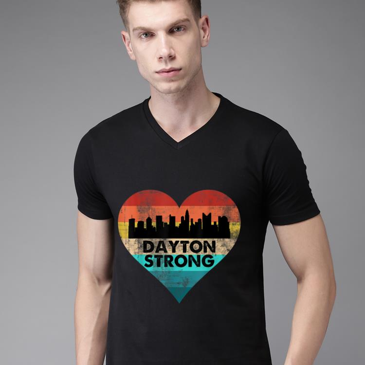 Hot Dayton Strong Ohio Heart Vintage shirt