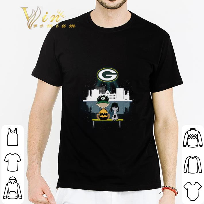 Hot Snoopy and Charlie Green Bay Packers shirt