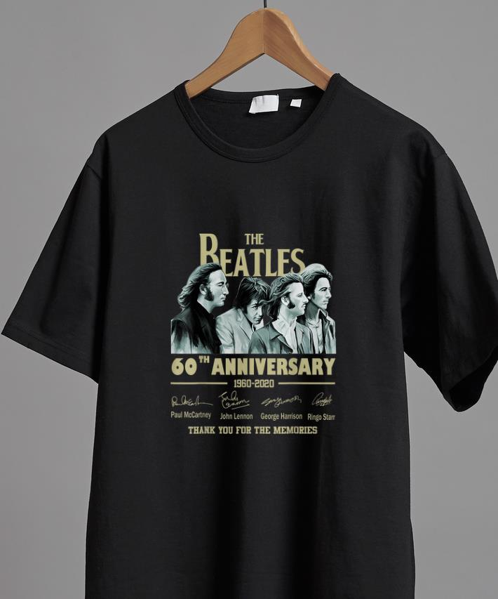 Hot The Beatles 60th Anniversary Thank You For Memories Signature Shirt 2 1.jpg