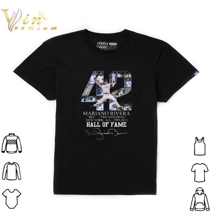 Nice 42 Mariano Rivera Mo The Sandman New York 1995-2013 Hall Of Fame shirt