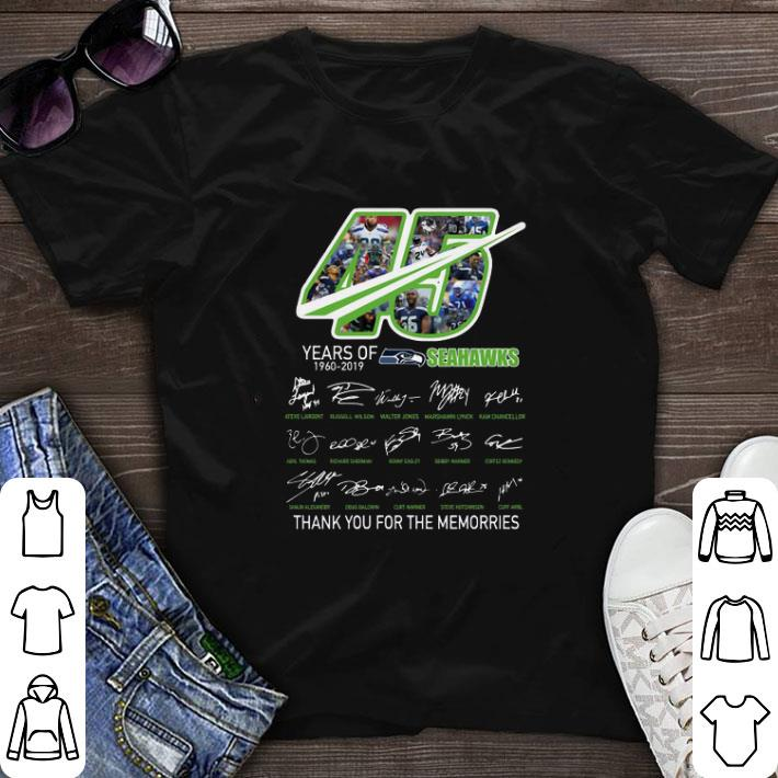 Nice 45 Years Of Seahawks 1960-2019 thank you for the memories shirt
