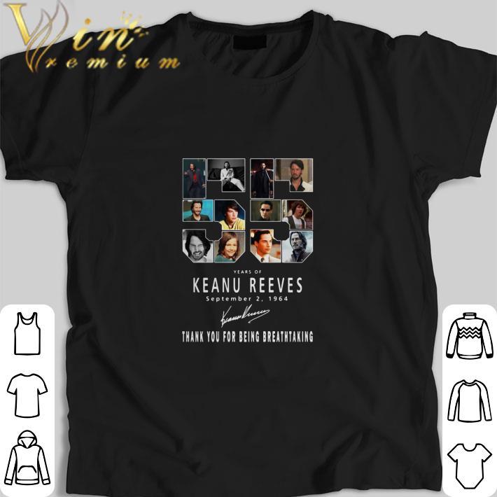 Nice 55 Years of Keanu Reeves september 2 1964 signature shirt