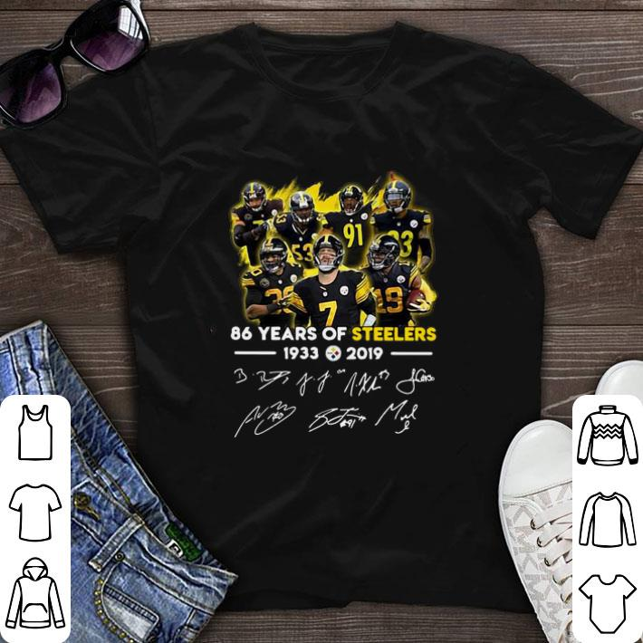 Nice 86 Years of Steelers 1933-2019 signatures shirt