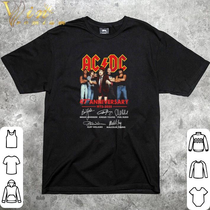 Nice ACDC 47th anniversary 1973-2020 signatures shirt