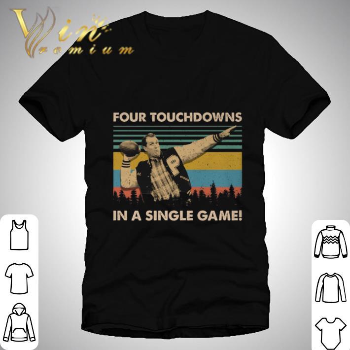 Nice Al Bundy Four touchdowns in a single game vintage shirt