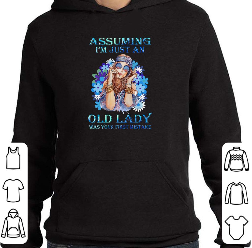 Nice Assuming I'm just an old lady was your first mistake flower girl shirt