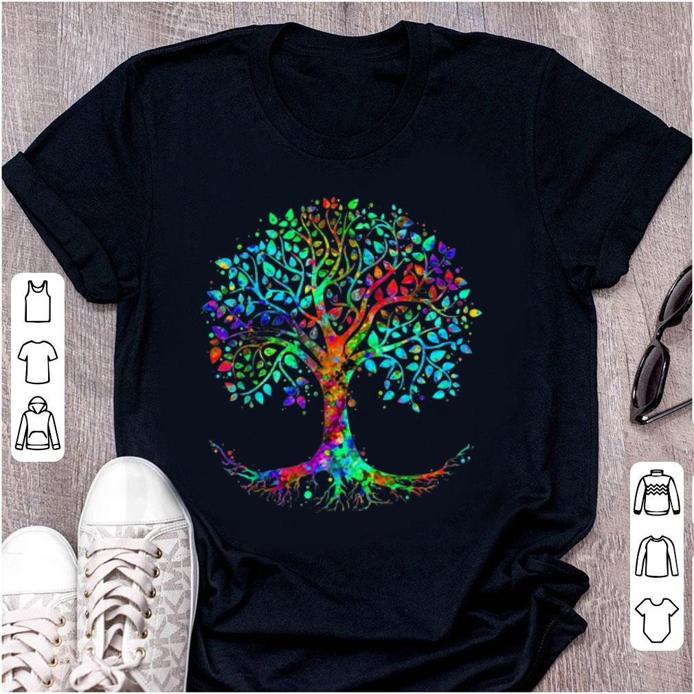 Nice Colorful Life is really Good Vintage Tree Art shirt
