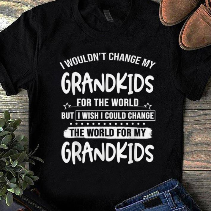 Nice I Wouldn't Change My Grandkids For The World But I Wish I Could Change shirt