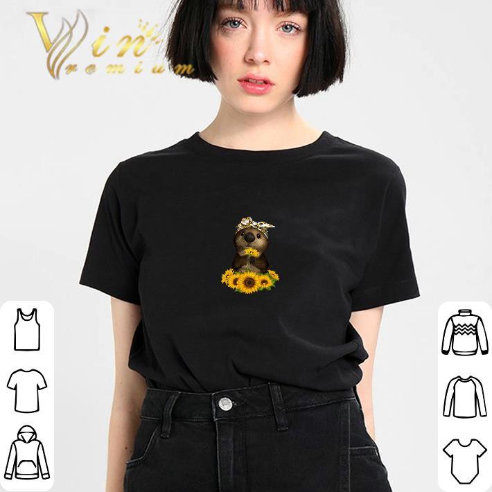 Nice Otter sunflowers shirt