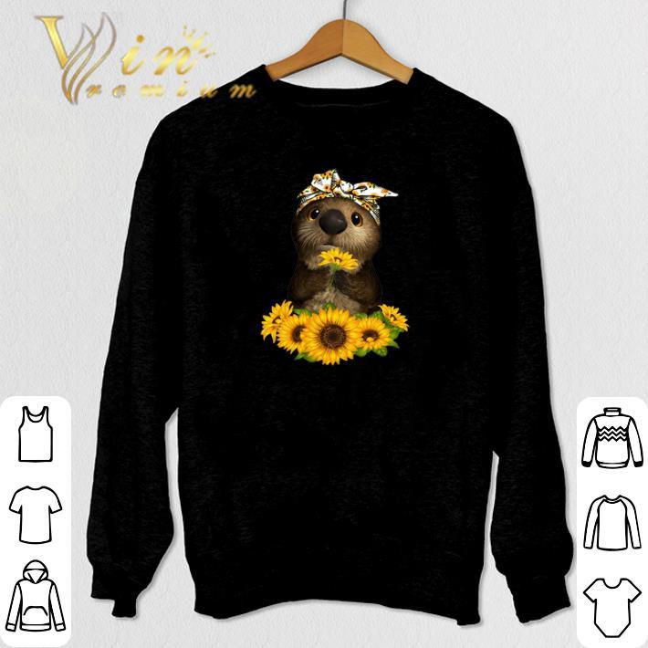 Nice Otter sunflowers shirt 4 - Nice Otter sunflowers shirt