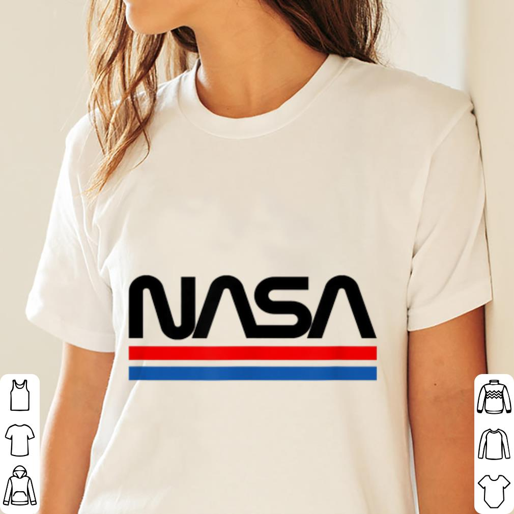 Nice The Official NASA Worm Logo shirt
