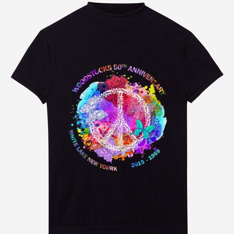 Nice Woodstock's 50th Anniversary White Lake New York Peace shirt