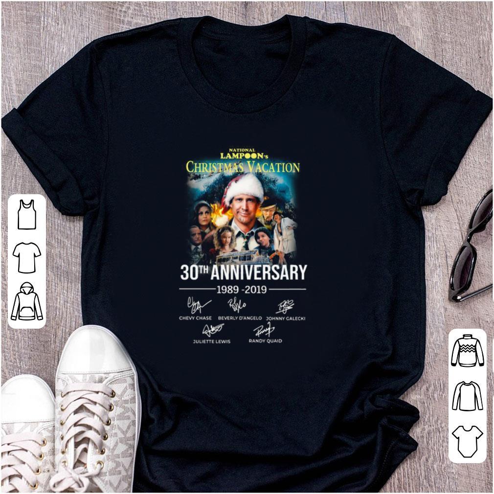 Official Christmas Vacation 30th Anniversary 1989 2019 Signature shirt