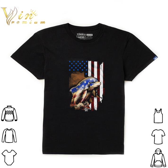 Official Dolphin American flag 4th of july shirt
