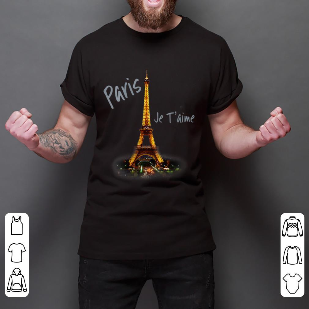 Official Eiffel Tower Paris Je T'aime I Love Paris France shirt