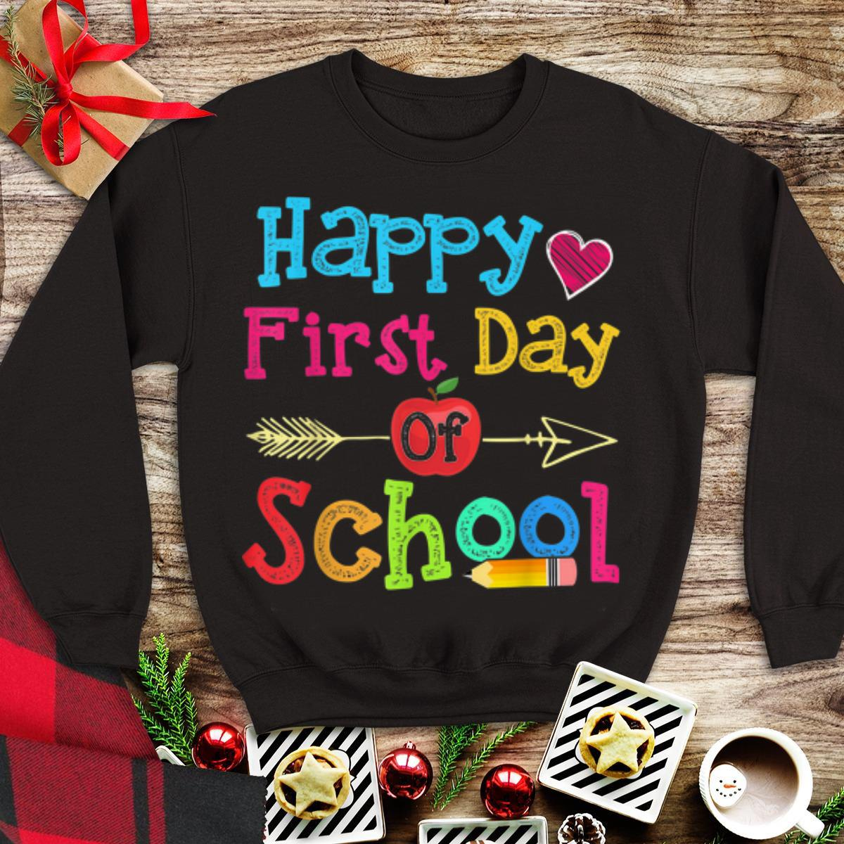 Official Happy First Day Of School hoodie