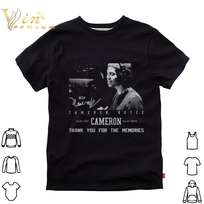 Official Rip Cameron Boyce 1999-2019 signature thank you for the memories shirt