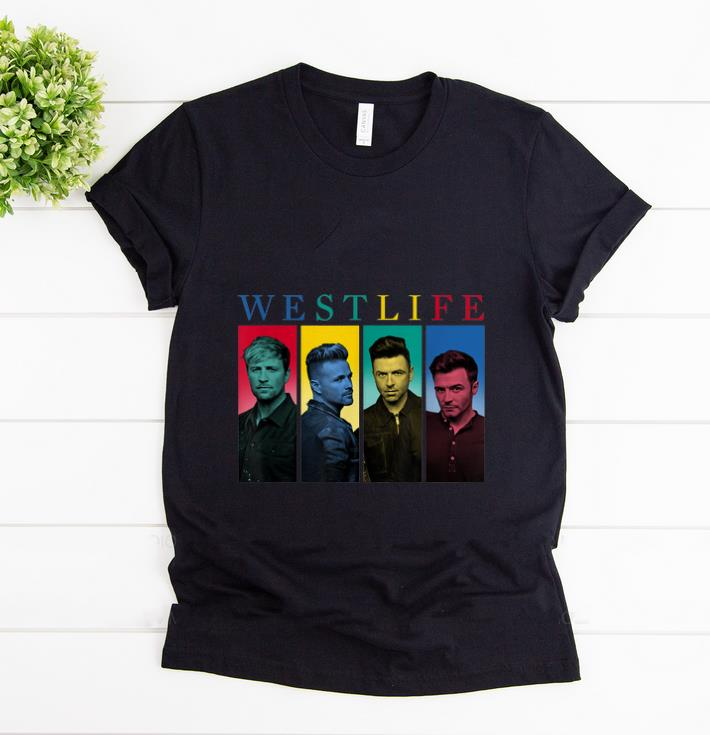 Official Westlife Colour Heads shirt