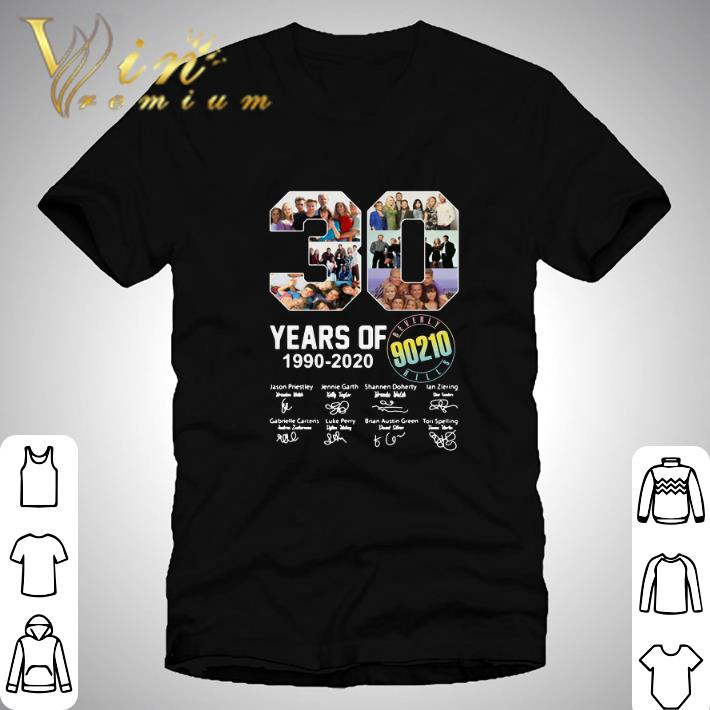 Original 30 years of Beverly Hills 90210 1990-2020 signatures shirt