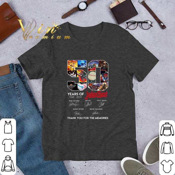 Original 50 Years of Judas Priest signature thank you for the memories shirt