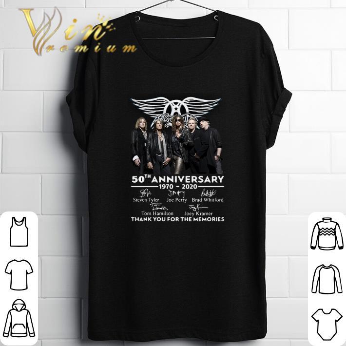 Original Aerosmith 50th anniversary 1970-2020 thank you for the memories shirt