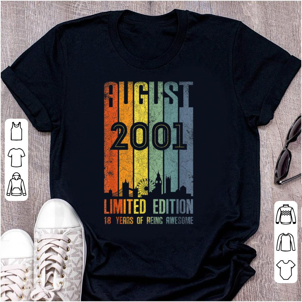 Original August 2001 Limited Edition 18 Years Of Being Awesome shirt