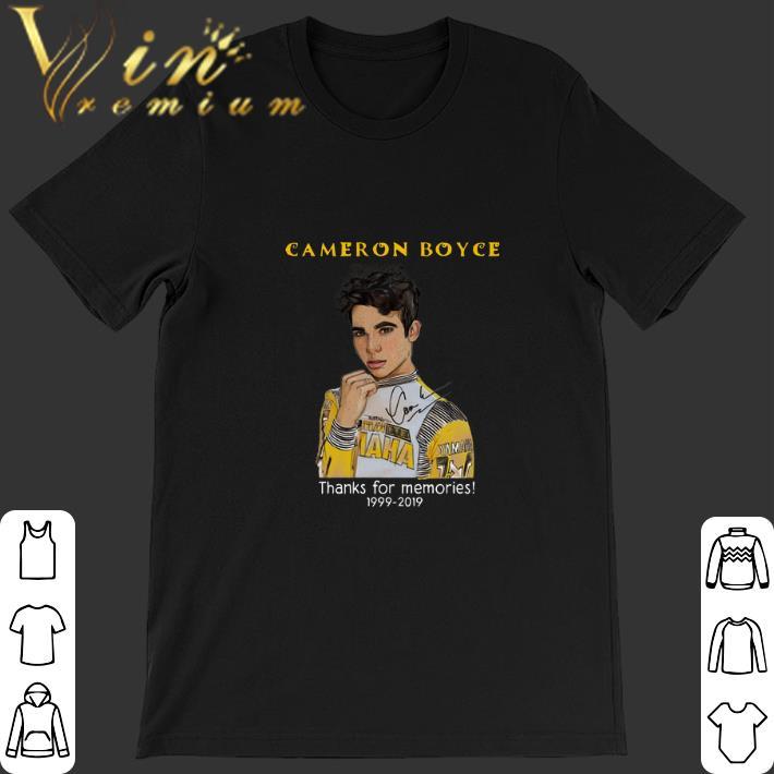 Original Cameron Boyce thank for memories 1999-2019 shirt