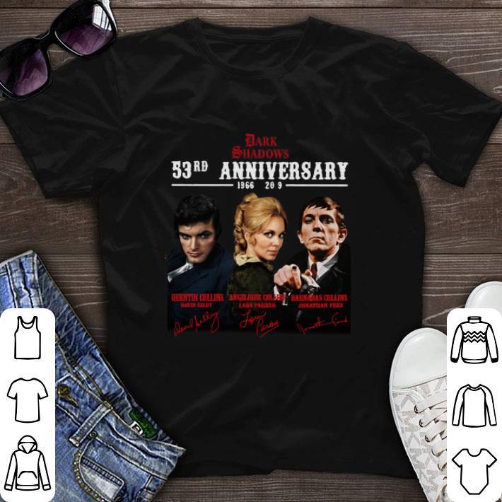 Original Dark Shadows 53rd Anniversary 1966-2019 Signatures shirt