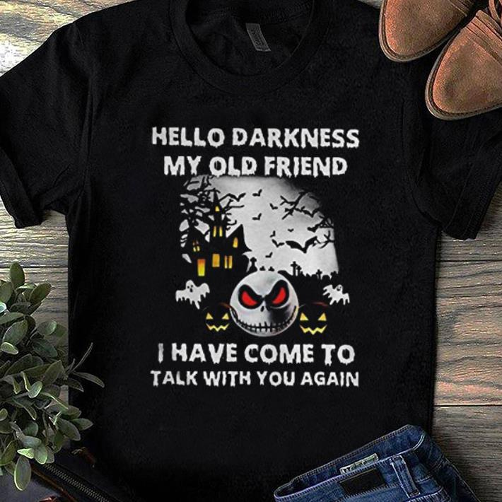 Original Jack Skellington Hello Darkness My Old Friend shirt