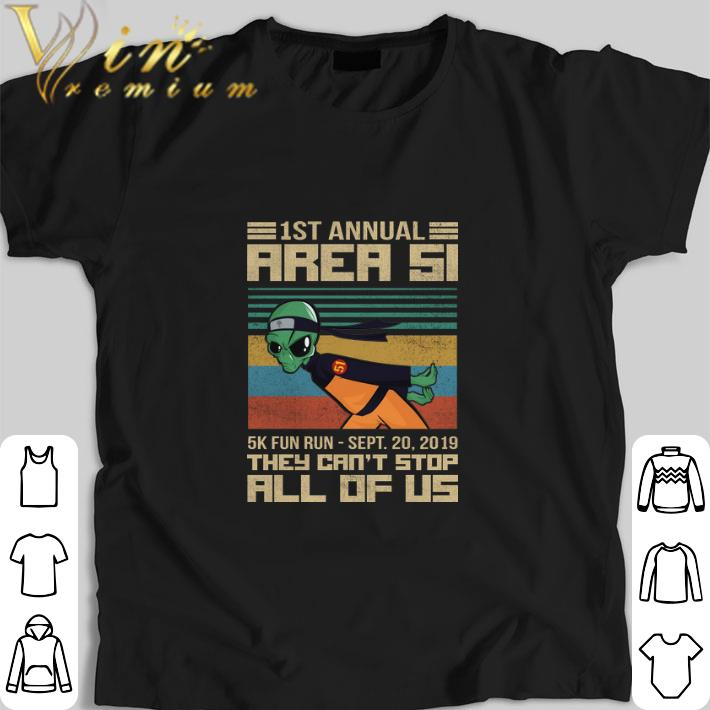 Original Naruto 1st annual Area 51 they can't stop all of us vintage shirt