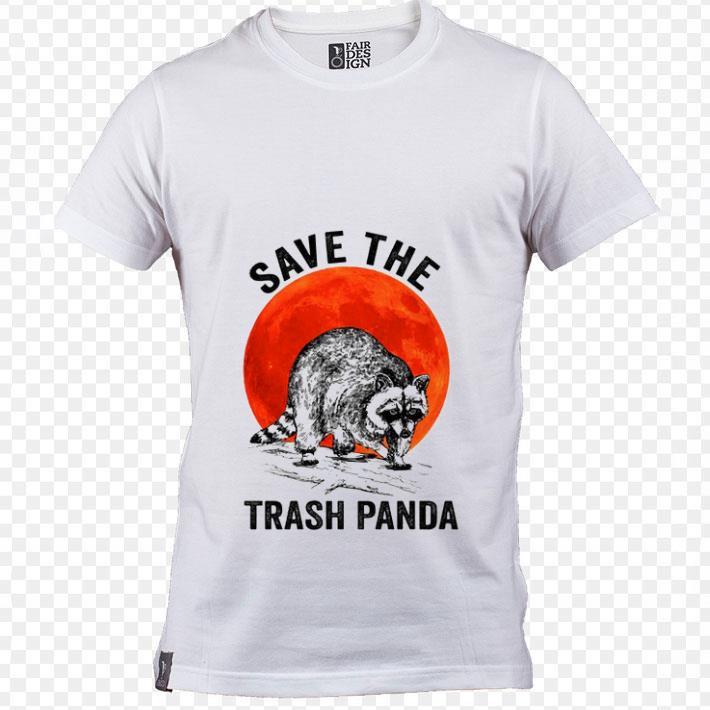 Original Raccoon Save the trash panda sunset shirt