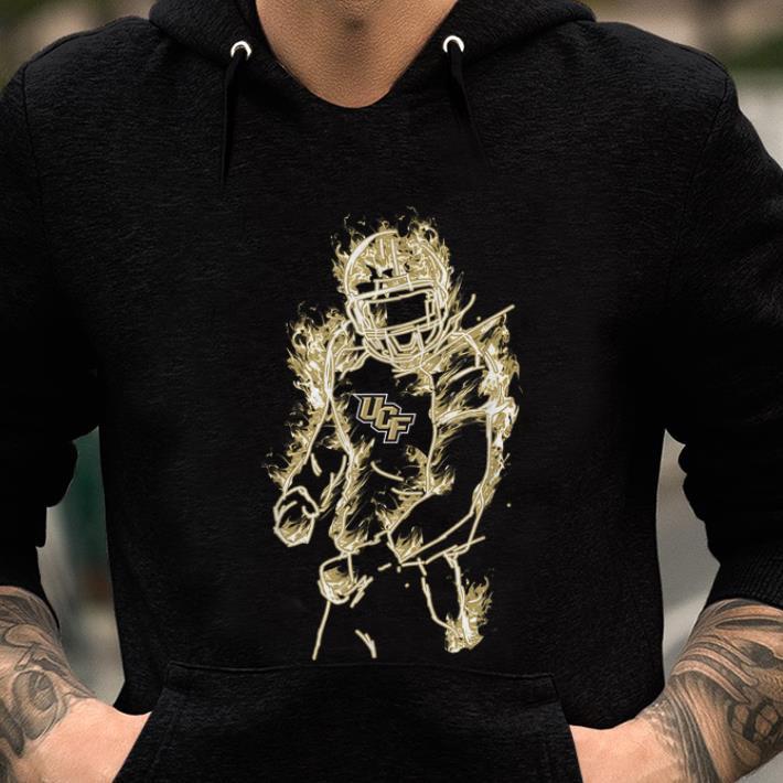 online store 732e1 2a6d2 Original UCF Knights Football Player On Fire shirt