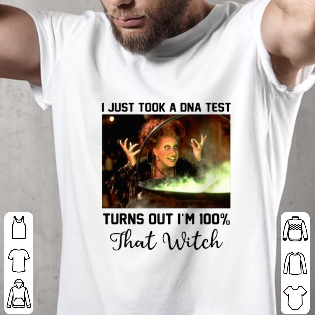 Original Winifred Sanderson I just took a DNA test turns out I'm 100% shirt