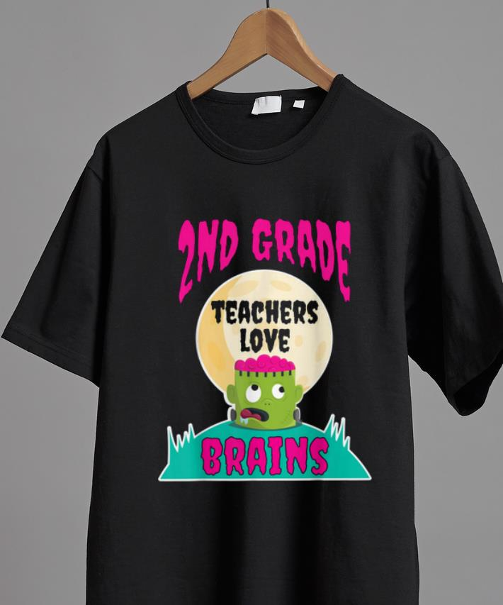 Premium 2nd Grade Teachers Love Brains Halloween Teacher Gift Shirt 2 1.jpg