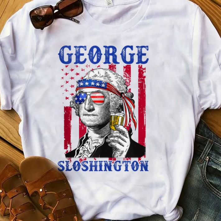 Premium George Sloshington Sunglass Headband Amrican Flag shirt