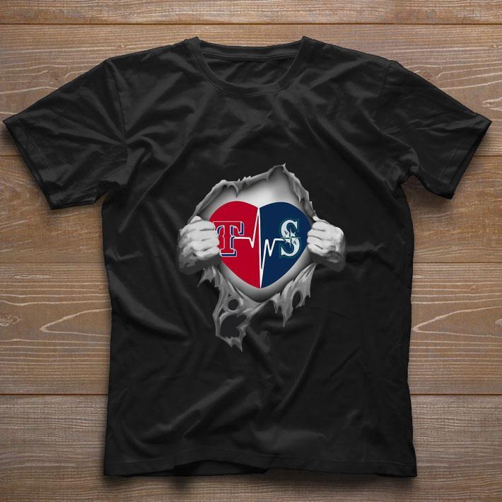 Premium Texas Rangers Blood Inside Me Seattle Mariners shirt