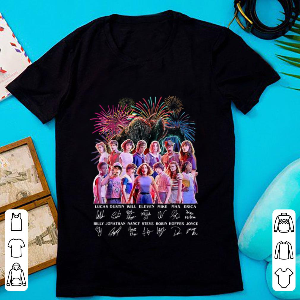 Premium Thank You For The Memories Stranger Things Firework Signature shirt