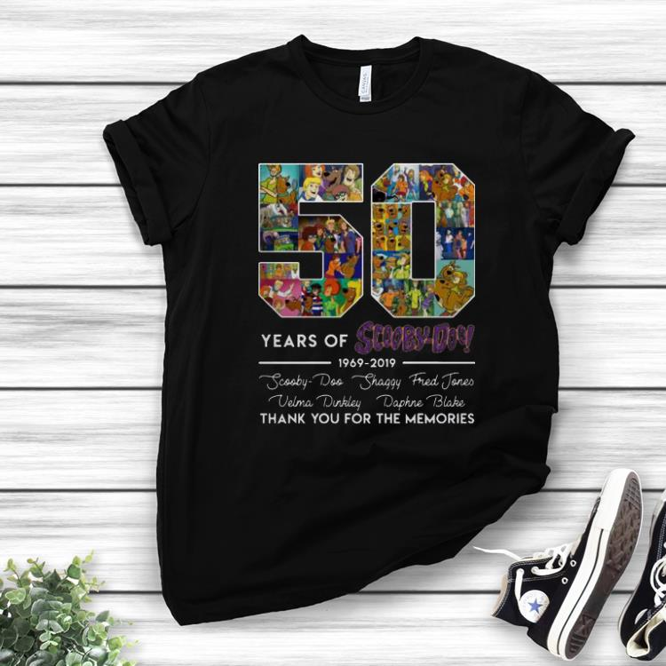 Pretty 50 Years of 1969 2019 Scooby Doo Signature Thank You For Memories shirt 1 1 - Pretty 50 Years of 1969-2019 Scooby Doo Signature Thank You For Memories shirt