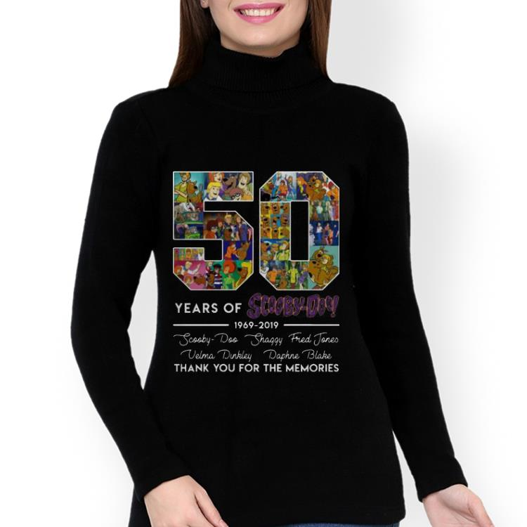 Pretty 50 Years of 1969-2019 Scooby Doo Signature Thank You For Memories shirt