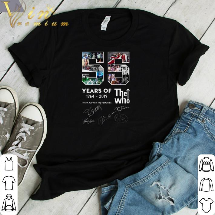 Pretty 55 years of The Who 1964-2019 thank you for the memories shirt