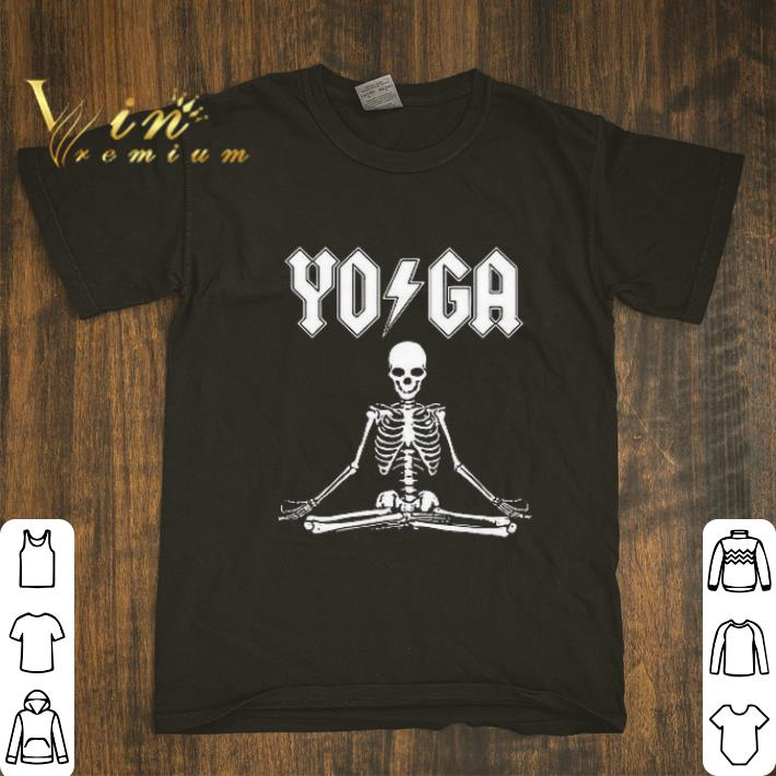 Pretty ACDC Skeleton YOGA shirt