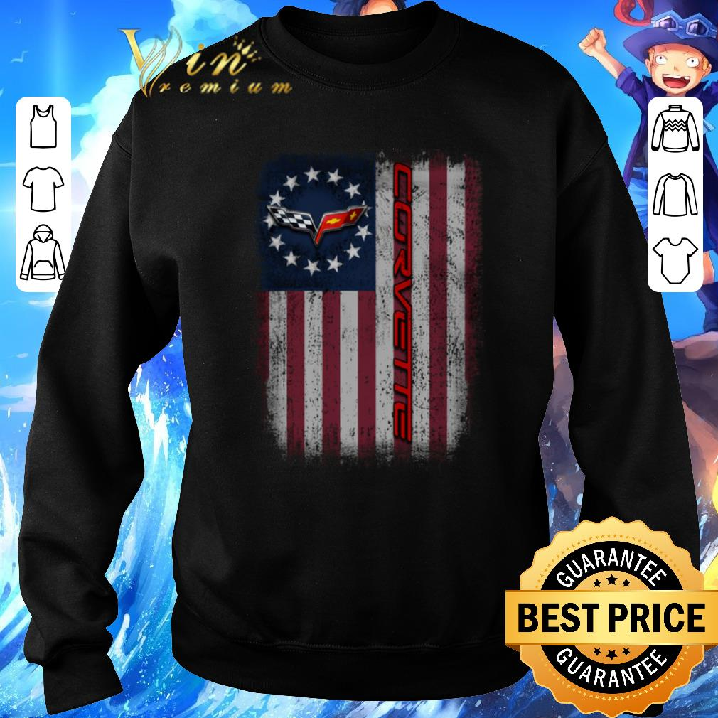 Pretty Chevrolet Corvette Logo Betsy Ross flag shirt 4 - Pretty Chevrolet Corvette Logo Betsy Ross flag shirt