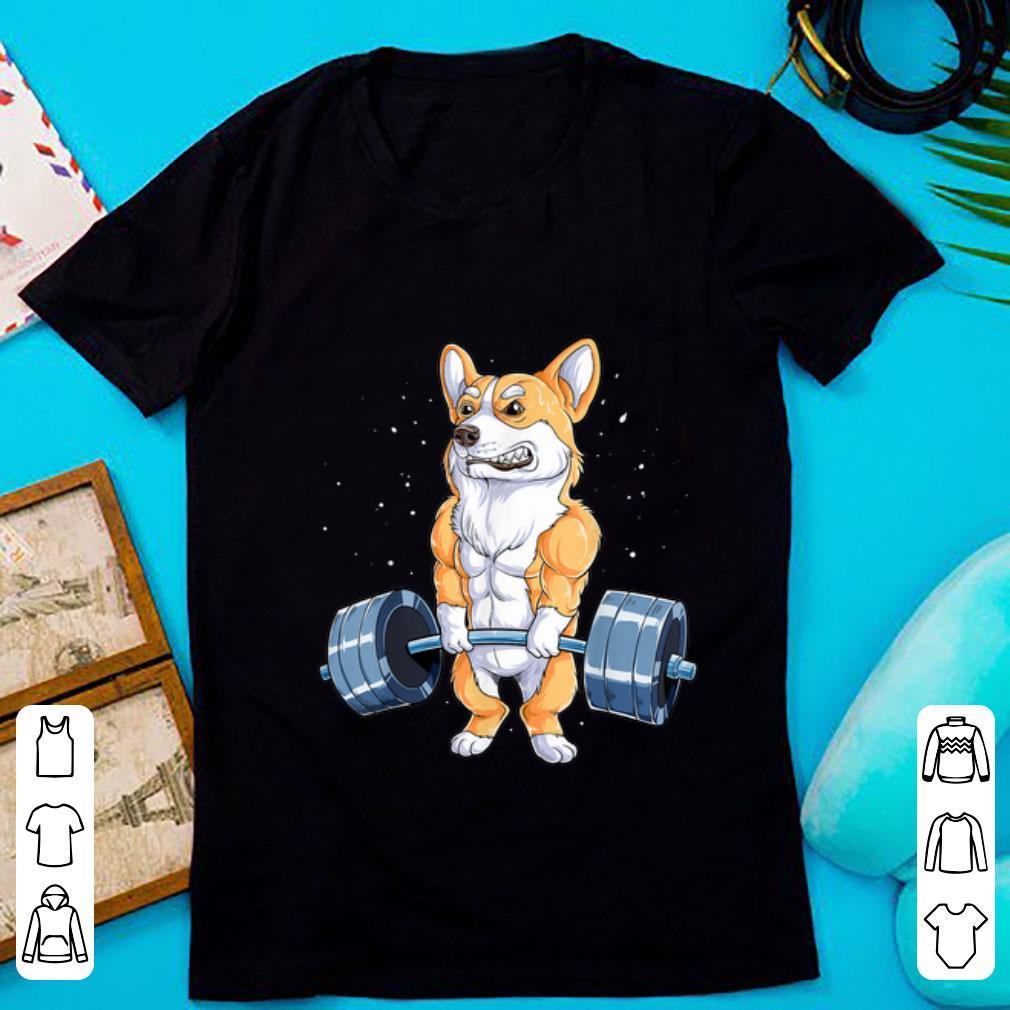 Pretty Corgi Weightlifting Fitness Gym Workout shirt