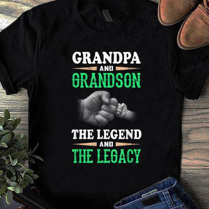 Pretty Grandpa And Grandson the Legend And The Legacy shirt 1 - Pretty Grandpa And Grandson the Legend And The Legacy shirt