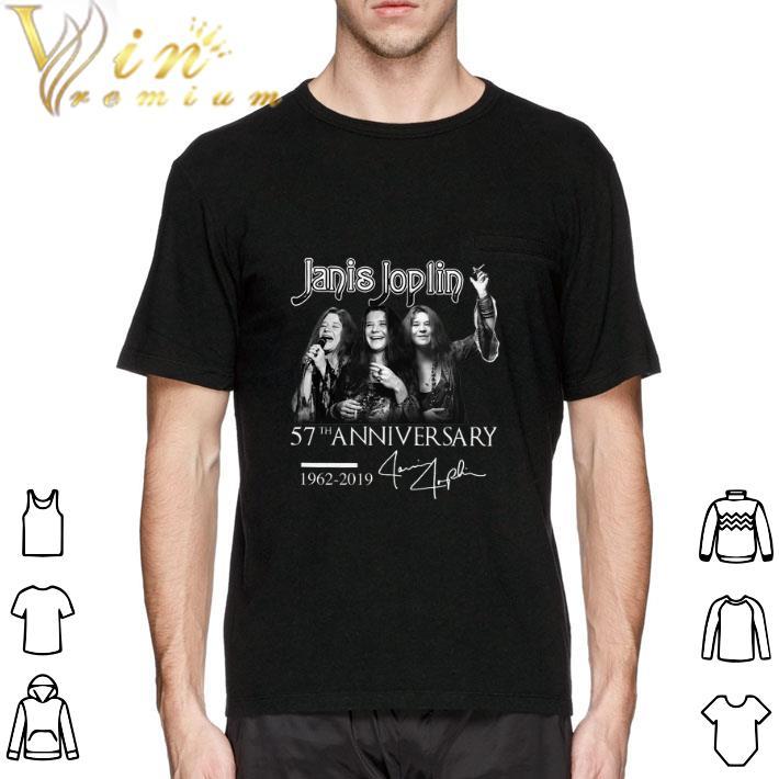 Pretty Janis Joplin 57th anniversary 1962-2019 signature shirt