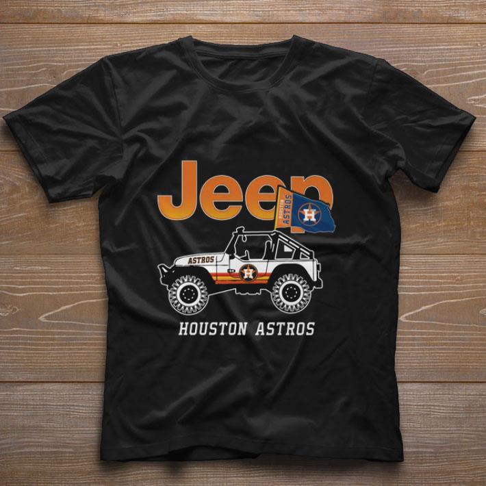 Pretty Jeep Houston Astros flag shirt